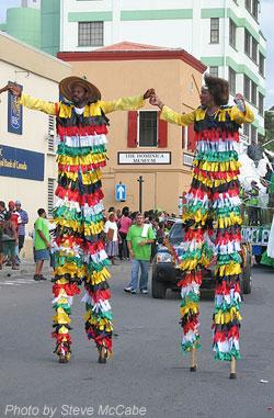 Bwa Bwas at Carnival Opening Parade