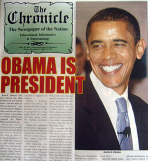 Front Page of The Chronicle Newspaper