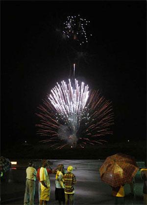 Night Landing Fireworks