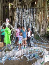 Plastic Waterfall - we must reduce our plastic use